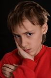 Resentful young guy Stock Photography