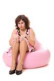 resentfuled женщина Стоковое Фото