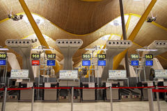 Reseption Aéroport de Barajas, Madrid Image stock