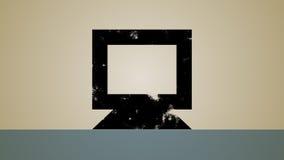 Reserv- ögla för datorspegel royaltyfri illustrationer
