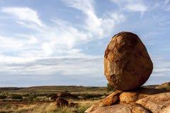 Reserv för jäkelmarmorKarlu Karlu beskydd, nordligt territorium, Australien royaltyfria foton