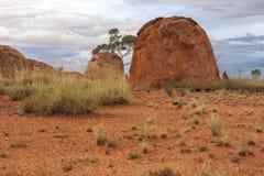 Reserv f?r j?kelmarmorKarlu Karlu beskydd, nordligt territorium, Australien arkivfoton