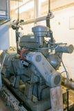 Reserv- generator för kalla krigetbunker arkivbild