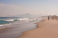 Reserva海滩在里约热内卢 图库摄影