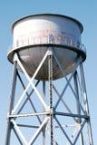 Reserva de agua de Alcatraz contra el cielo azul claro Imágenes de archivo libres de regalías
