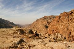 Reserva de Dana (Jordão) Fotos de Stock