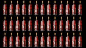 Reserva de la escritura de la etiqueta del oro de Johnnie Walker Botella animada ilustración del vector