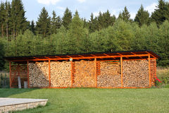 Reserva de la madera, pila de madera Fotografía de archivo libre de regalías