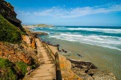 Reserva de naturaleza de Robberg, ruta del jardín, paisaje de Suráfrica Fotos de archivo