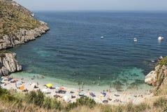 Reserva de naturaleza del cíngaro Trapan Sicilia Italia Europa Fotografía de archivo libre de regalías