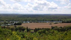 Reserva de naturaleza nacional del Sena del la de Coteaux de Foto de archivo