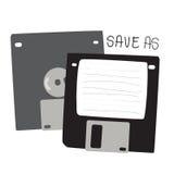 Reserva del disco blando gris negra como ejemplo del icono Imagen de archivo libre de regalías