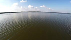 Reserva del lago sanctuary, aérea Reserva de Naroch de Bielorrusia metrajes
