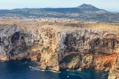 A reserva do mar de San Antonio Cape Denia, Espanha Foto de Stock Royalty Free