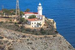 A reserva do mar de San Antonio Cape Farol Denia, Espanha Imagem de Stock