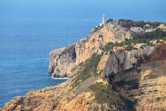 A reserva do mar de San Antonio Cape Farol Denia, Espanha Foto de Stock Royalty Free