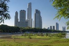 Reserva ecológica en la vecindad de Puerto Madero, Buenos Aires, la Argentina imagenes de archivo