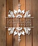 Reserva floral la tarjeta de la invitación de la fecha Fotografía de archivo