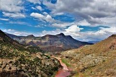 Reserva indígena branca de Apache da montanha, o Arizona, Estados Unidos Fotografia de Stock