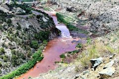 Reserva indígena branca de Apache da montanha, o Arizona, Estados Unidos Imagens de Stock Royalty Free