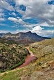 Reserva indígena branca de Apache da montanha, o Arizona, Estados Unidos Foto de Stock Royalty Free
