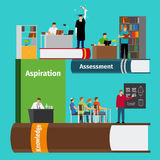 Reserva infographics de la educación ilustración del vector