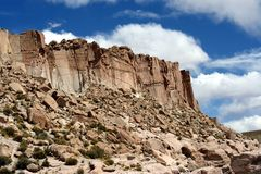 Reserva nacional andina de Eduardo de la formación de roca Foto de archivo libre de regalías