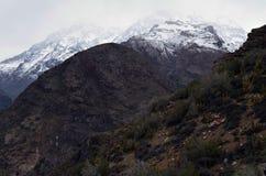 Reserva nacional de RÃo Blanco, Chile central, un alto valle de la biodiversidad en Los los Andes imagenes de archivo