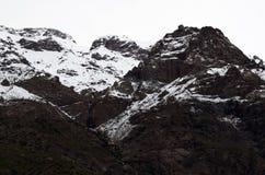 Reserva nacional de RÃo Blanco, Chile central, un alto valle de la biodiversidad en Los los Andes fotografía de archivo