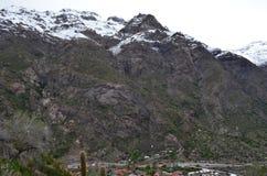 Reserva nacional de RÃo Blanco, Chile central, un alto valle de la biodiversidad en Los los Andes foto de archivo