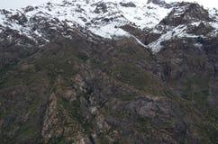 Reserva nacional de RÃo Blanco, Chile central, un alto valle de la biodiversidad en Los los Andes imagen de archivo libre de regalías