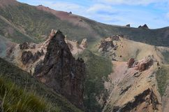 Reserva Nacional Lago Jeinimeni, nära Lago general Carrera i sydliga Chile Royaltyfri Foto