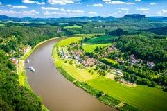 Reserva natural de Suíça saxão Fotos de Stock