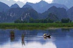 Reserva natural de Van Long Foto de archivo