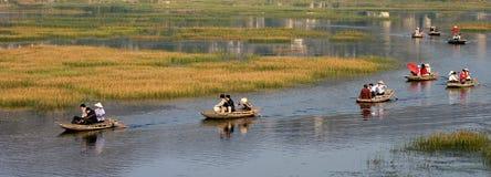 Reserva natural de Van Long Fotos de archivo