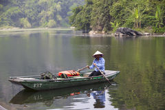 Reserva natural de Van Long em Ninh Binh, Vietname Imagem de Stock Royalty Free