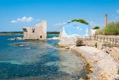 Reserva natural de Vendicari, Sicília, Itália Imagens de Stock