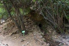 Reserva natural do córrego de Amud em Israel do norte foto de stock