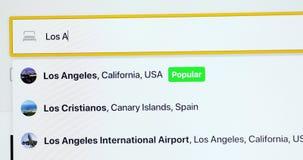 Reservación de hotel en línea de Los Angeles metrajes