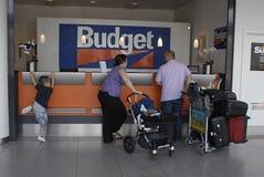 Reservación del alquiler de coches de DENMARK_Budget Foto de archivo