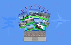 Reservación en línea Imágenes de archivo libres de regalías