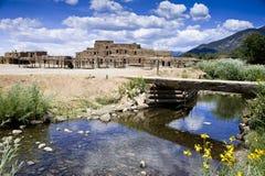 Reservación india del pueblo de Taos Fotografía de archivo libre de regalías