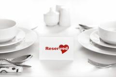 Reservado para los amantes Imagen de archivo libre de regalías