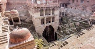 Reservas de água antigas, Bawdi, Índia foto de stock royalty free