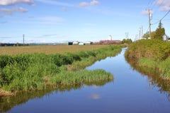 Reservas de água para a colheita do arando Foto de Stock