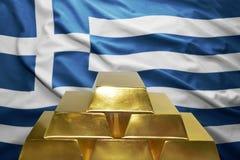 Reservas de oro griegas Fotografía de archivo libre de regalías
