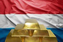 Reservas de ouro de Luxemburgo Foto de Stock