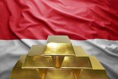 Reservas de ouro de Mônaco imagem de stock
