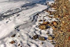 Reservatório congelado Imagens de Stock