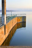 Reservatório da represa Fotos de Stock